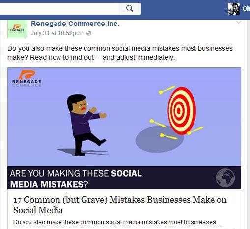 facebook ad to content