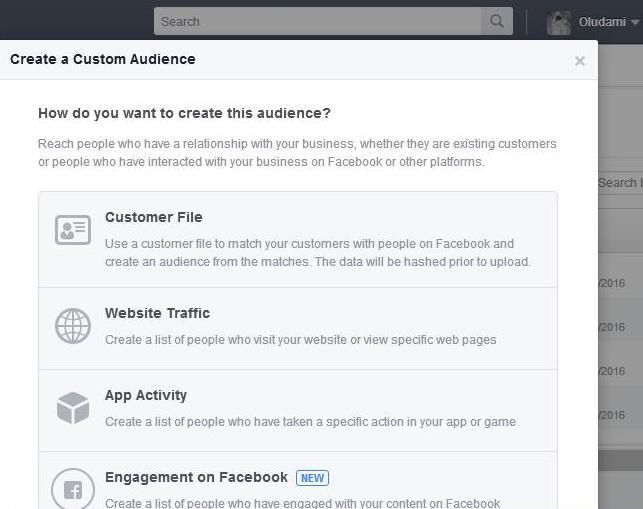 custom audience from customer list